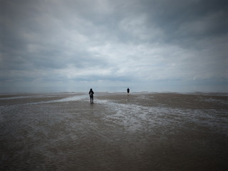 walking during low-tide