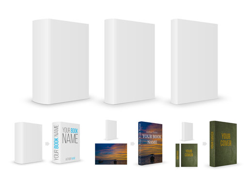 Book Cover Mockup in Three Sizes