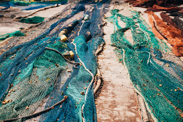 Fishing nets drying in the sun