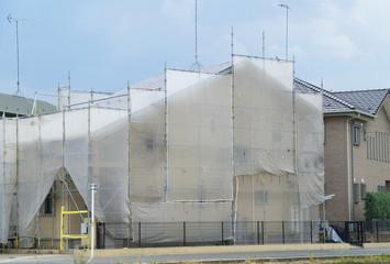 住宅リフォーム 外壁塗装建築現場 イメージ