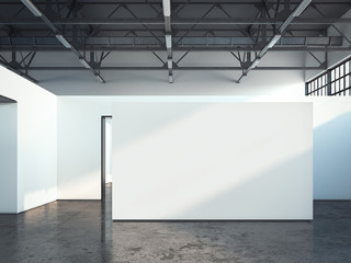 Blank white wall. 3d rendering