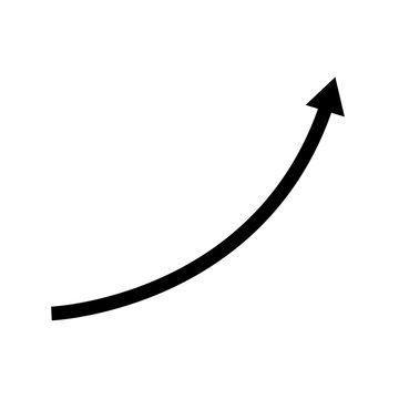 Vector black arrow on white background