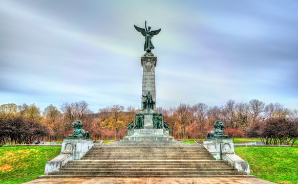 Sir George Etienne Cartier Monument at Mount Royal in Montreal, Canada