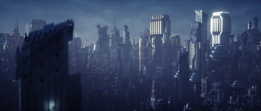Science fiction city