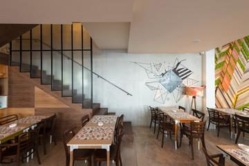 Restaurant interior,new,urban