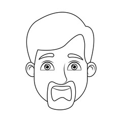 cartoon man avatar profile picture male character head vector illustration