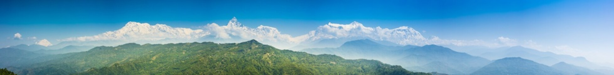 View of Himalaya, Annapurna mountain from Pokhara, Nepal.