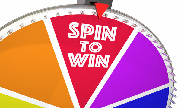 Spin to Win Game Show Wheel Play Jackpot 3d Illustration