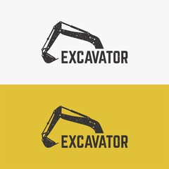 Excavator Logo template designs vector illustration