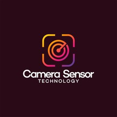 Camera and Radar Logo for security company vector illustration