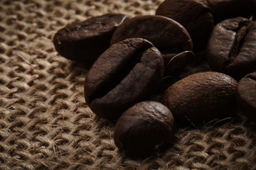 Closeup coffee beans