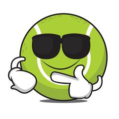 Super cool tennis ball character
