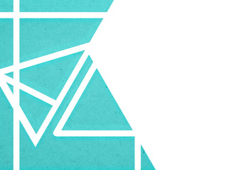 blue geometric illustration for background or wallpaper in the A4 paper size.