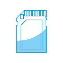 sd card icon over white background vector illustration