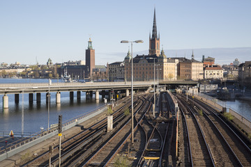 Cityscape and Railway, Stockholm