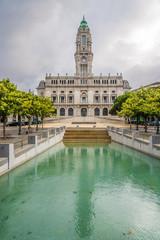 Porto City Hall in the Avenida dos Aliados in Porto ,Portugal