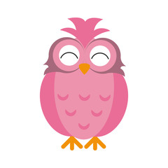 pink happy cute  owl icon image vector illustration design