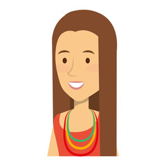woman character hippy lifestyle vector illustration design