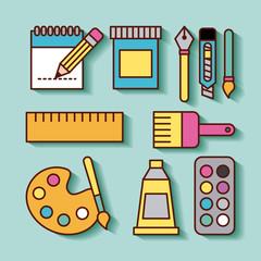 Children instruments draw icon vector illustration design graphic