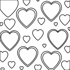heart love isolated pattern vector illustration design