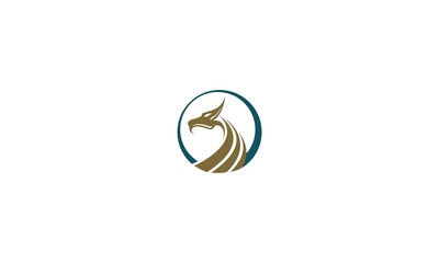 dragon emblem symbol icon vector logo