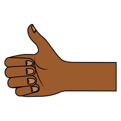 hand human with like gesture vector illustration design