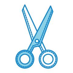 scissors tool isolated icon vector illustration design