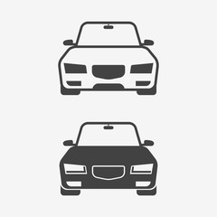 Car monochrome icon. Vector illustration.