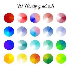 Candy Tone Color Shade Background, Colorful gradient meshes