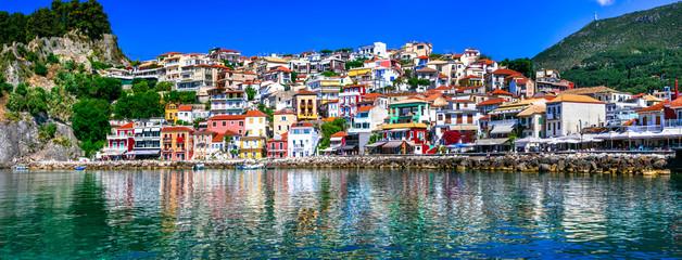 Colorful Greece series - beautiful coastal town Parga Wall mural