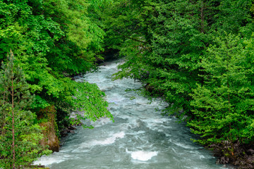 Foto op Aluminium Rivier Горная река