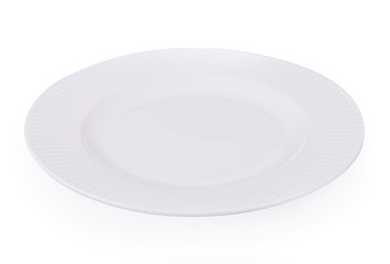 Plate white Empty on white background