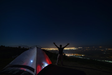 camping in remote locations from the city