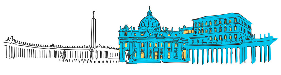 Vatican Colored Panorama