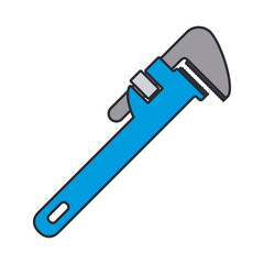 color image of pipe wrench tool vector illustration