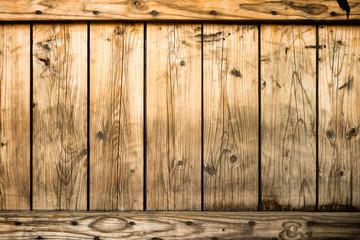 Dark old wood fence