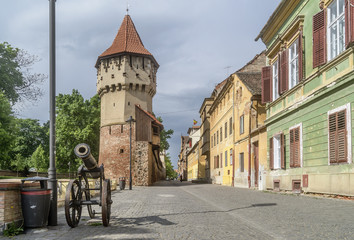 Defensive Medieval Tower, Sibiu, Romania