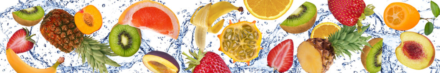 Poster Fruits Fruit and water