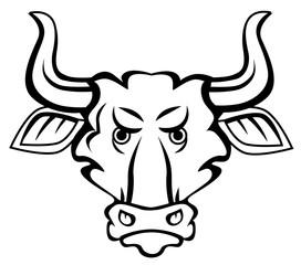 Angry bull mascot character vector eps 10