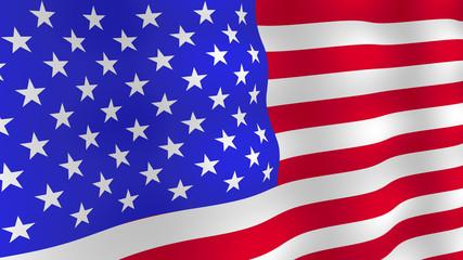 Bright USA flag background.