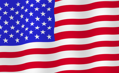 Bright USA flag background.