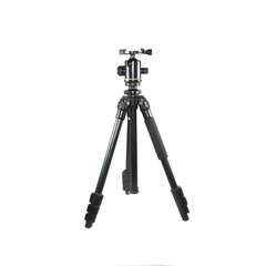 photo tripod isolated over white