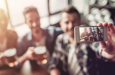 Men in bar