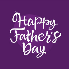 Father's Day - vector hand drawn brush lettering