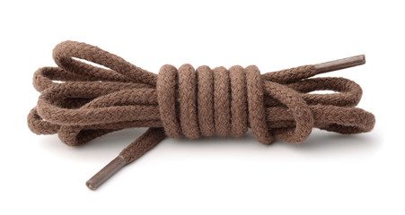 Pair of brown shoelaces