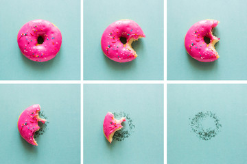 Bite-on pink donut