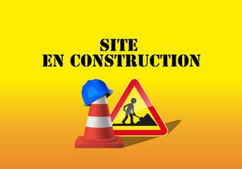 site en construction - fond d'écran - signalisation - site web - message - présentation - panneau