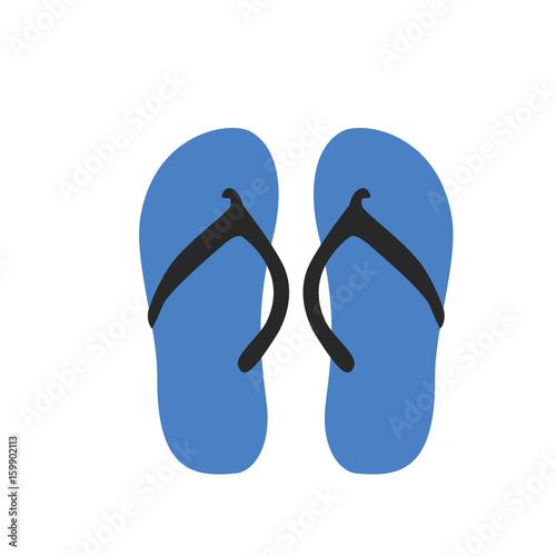 e794072d4615 Flip flop sandals icon. Flat illustration of flip flop sandals vector icon  for web design
