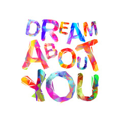 Dream about you. Vector