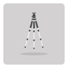 Vector of flat icon, Tripod for camera on isolated background